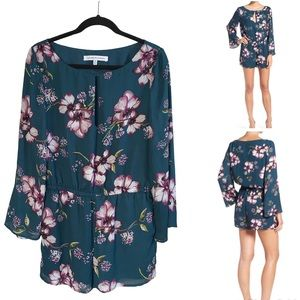 Cupcakes & Cashmere Green Floral Romper